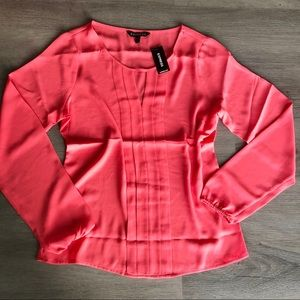 EXPRESS • NWT Coral Long Sleeve Blouse Top